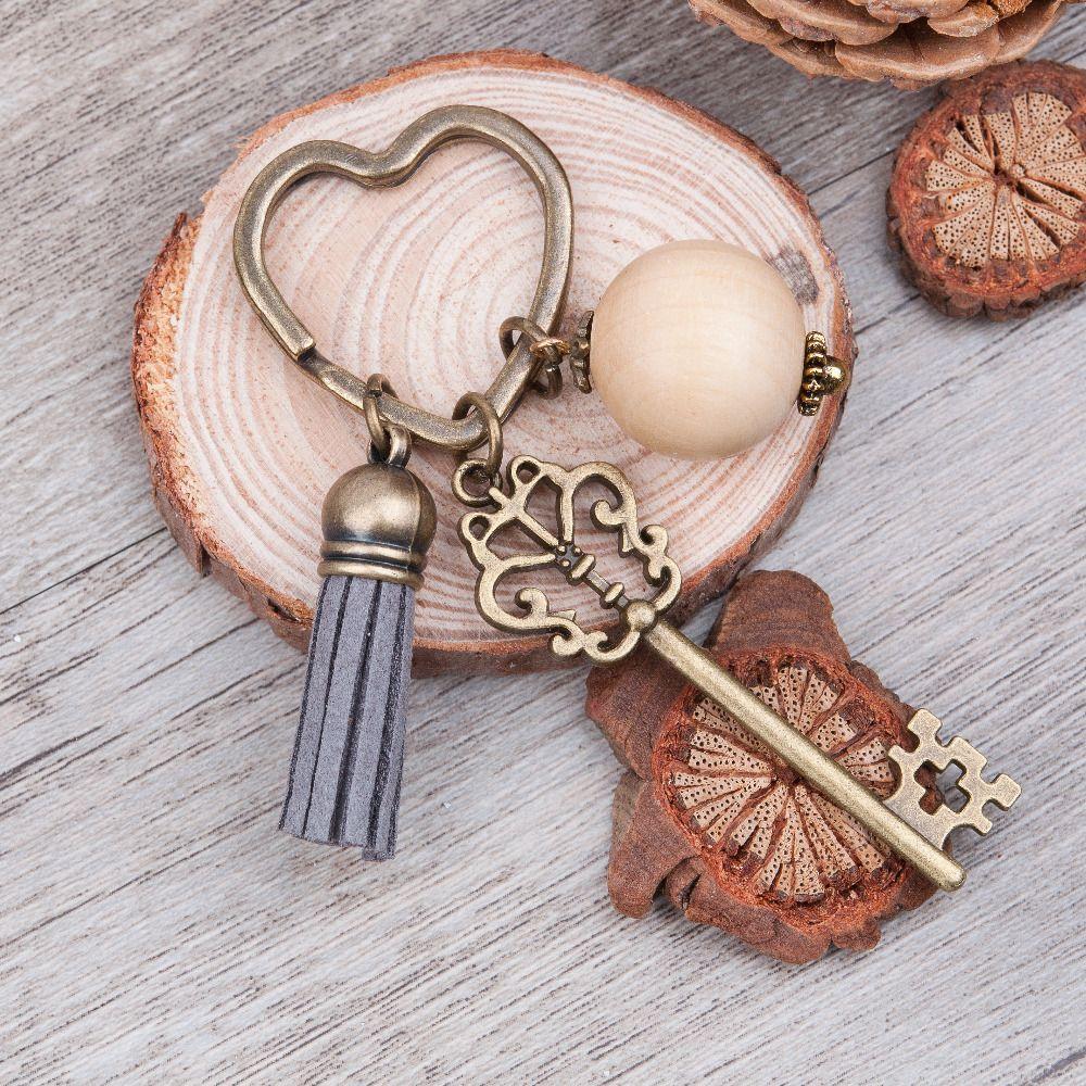 Kupit Tovar Doreenbeads Antichnaya Bronzovaya Serdce Brelki I Kolca Dlya Keychain Key Pendant Aromatherapy Accessories
