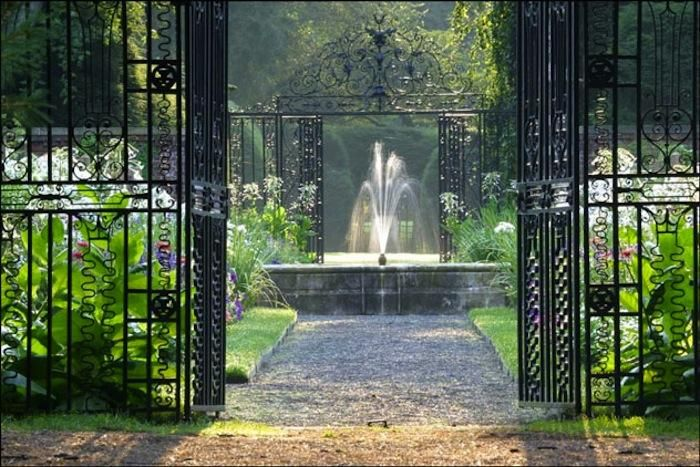 The West Gate and Center Fountain at Old Westbury Gardens - set for the Great Gatsby