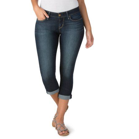 8054c830425 Signature by Levi Strauss & Co. Women's Mid Rise Slim Cuffed Jeans ...