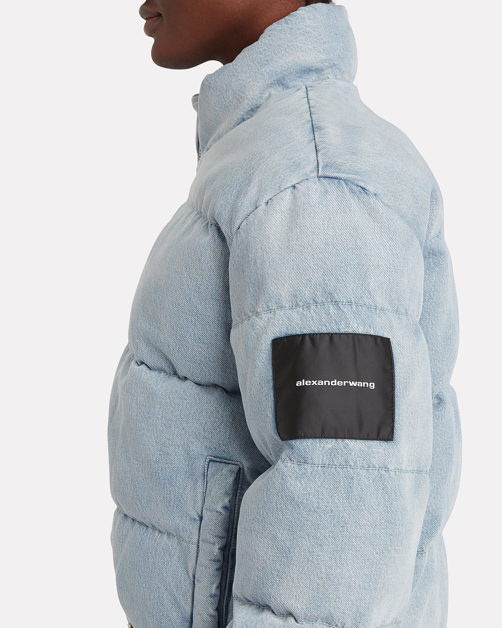 Bleached Denim Puffer Jacket in 2020 Bleached denim