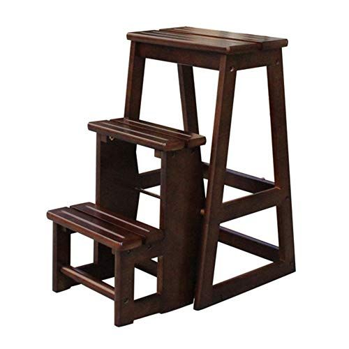 Incredible Solid Wood Folding 3 Step Stool 3 Tier Multi Purpose Ladder Gmtry Best Dining Table And Chair Ideas Images Gmtryco