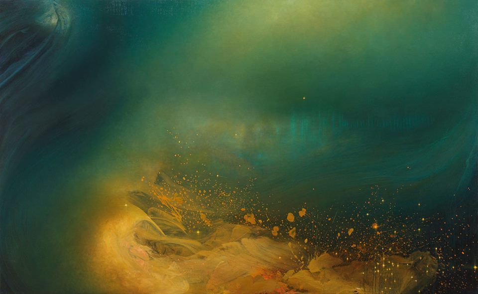 We are marveling at the talent of artist Samantha Keely-Smith and her series of dramatic ocean landscapes