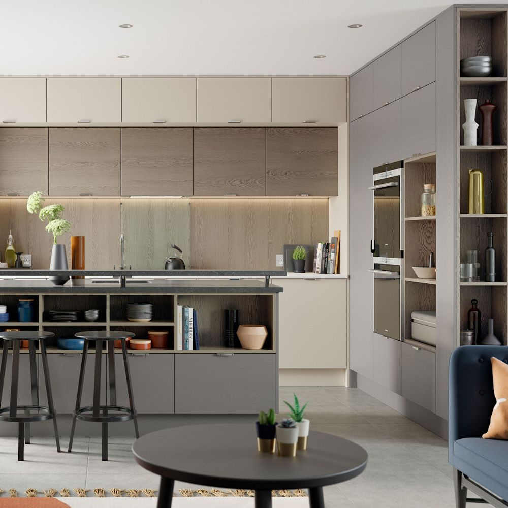 zola matte light grey and graphite kitchens direct ni in 2020 light grey kitchens kitchens on kitchen interior grey wood id=17254