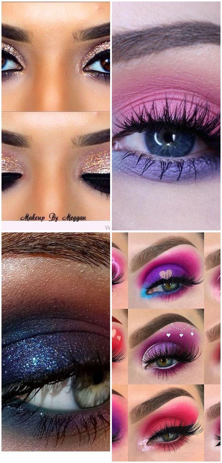 Gold and Burgundy Eye Makeup With Black Eyeliner Details