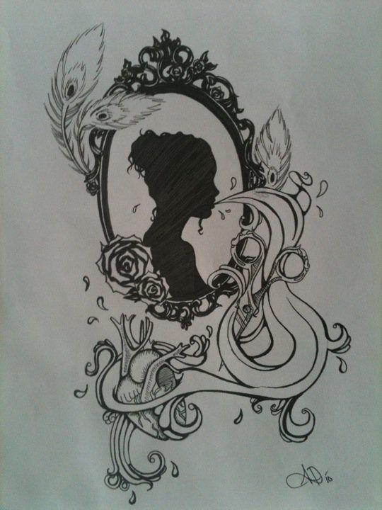 silhouette tattoo I want my adelyn Maes silhouette in this!