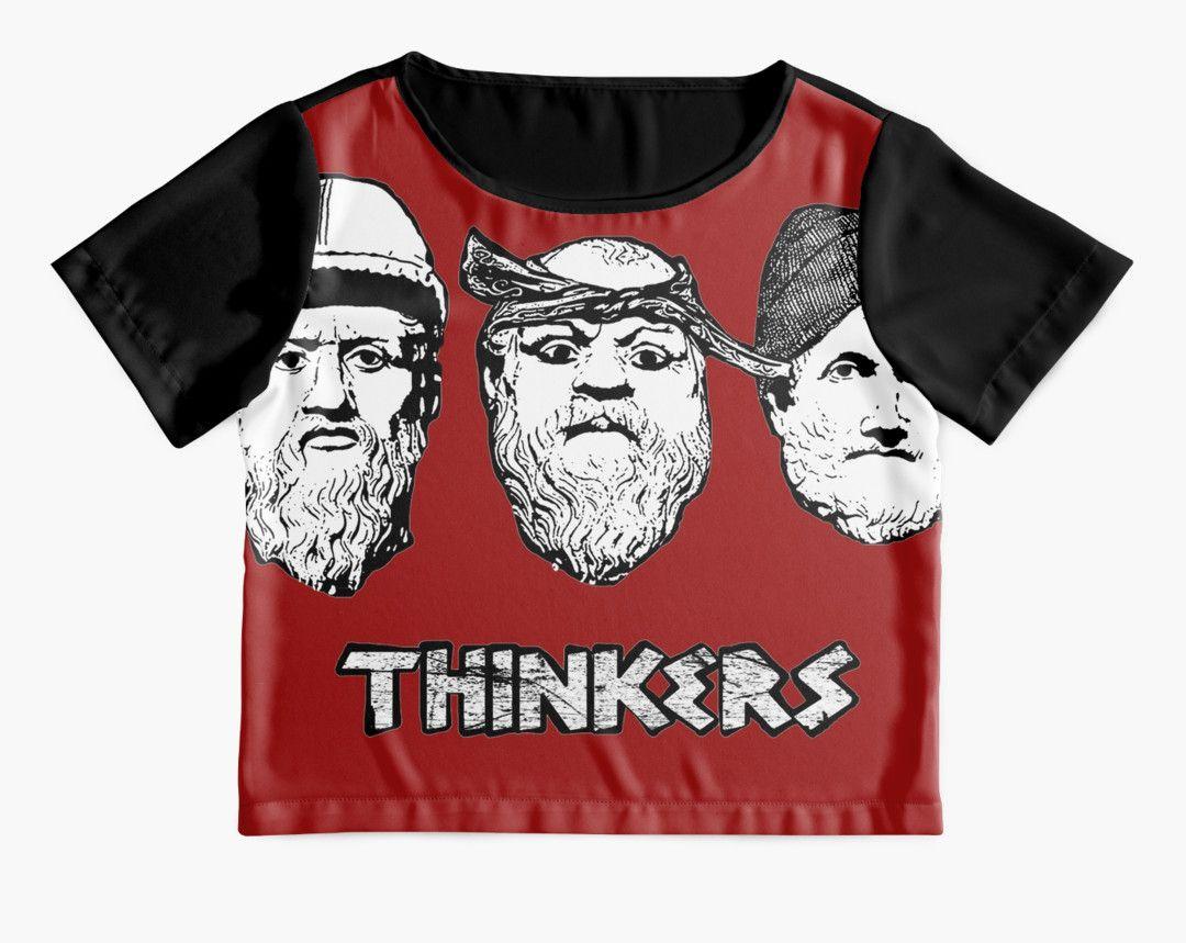 Design shirt redbubble - Alternative T Shirt Design For Women Plato Aristotle Socrates Thinkers