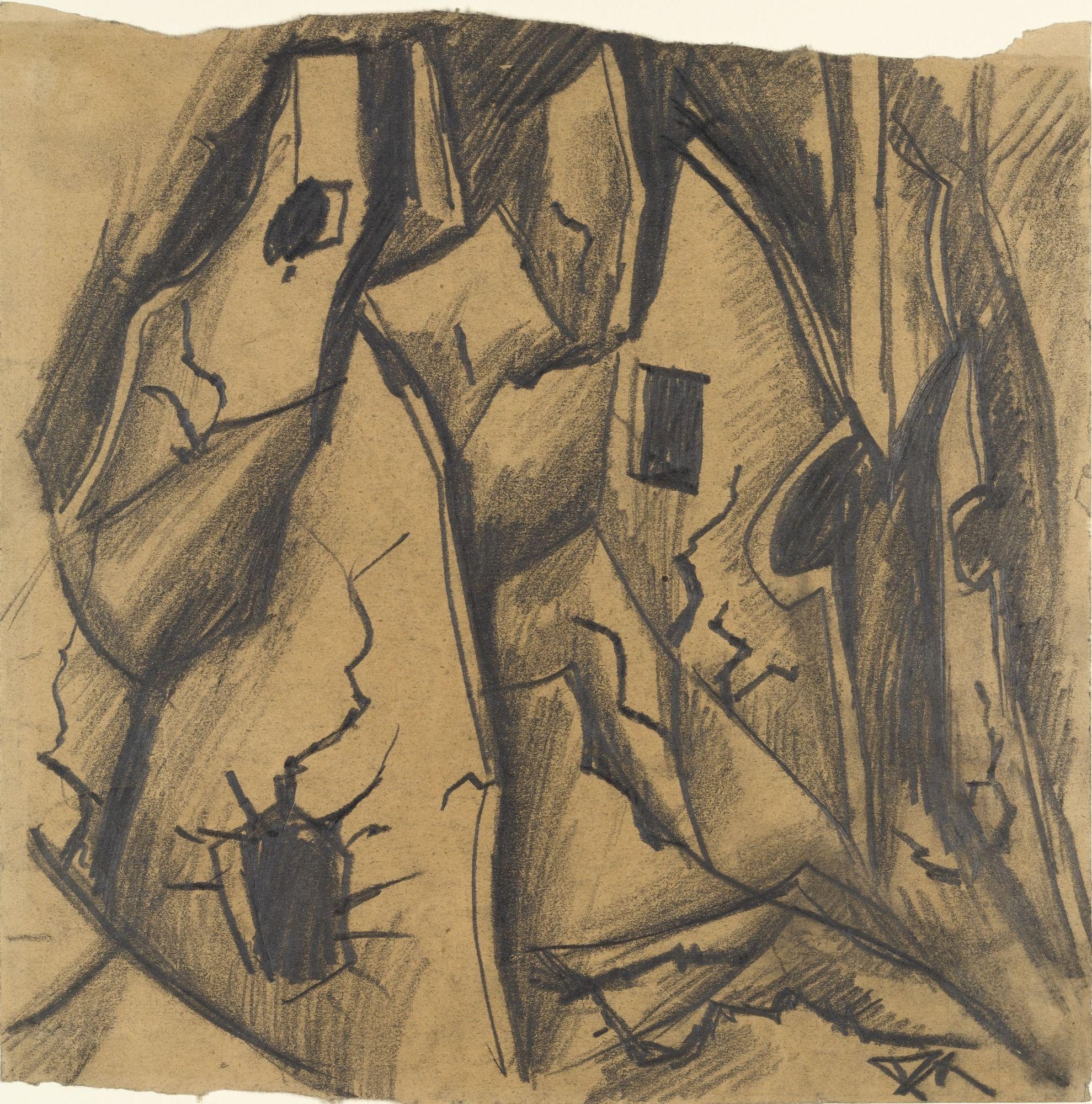 Otto Dix. A Riddled Wall (Zerschossene Mauern). (1916)