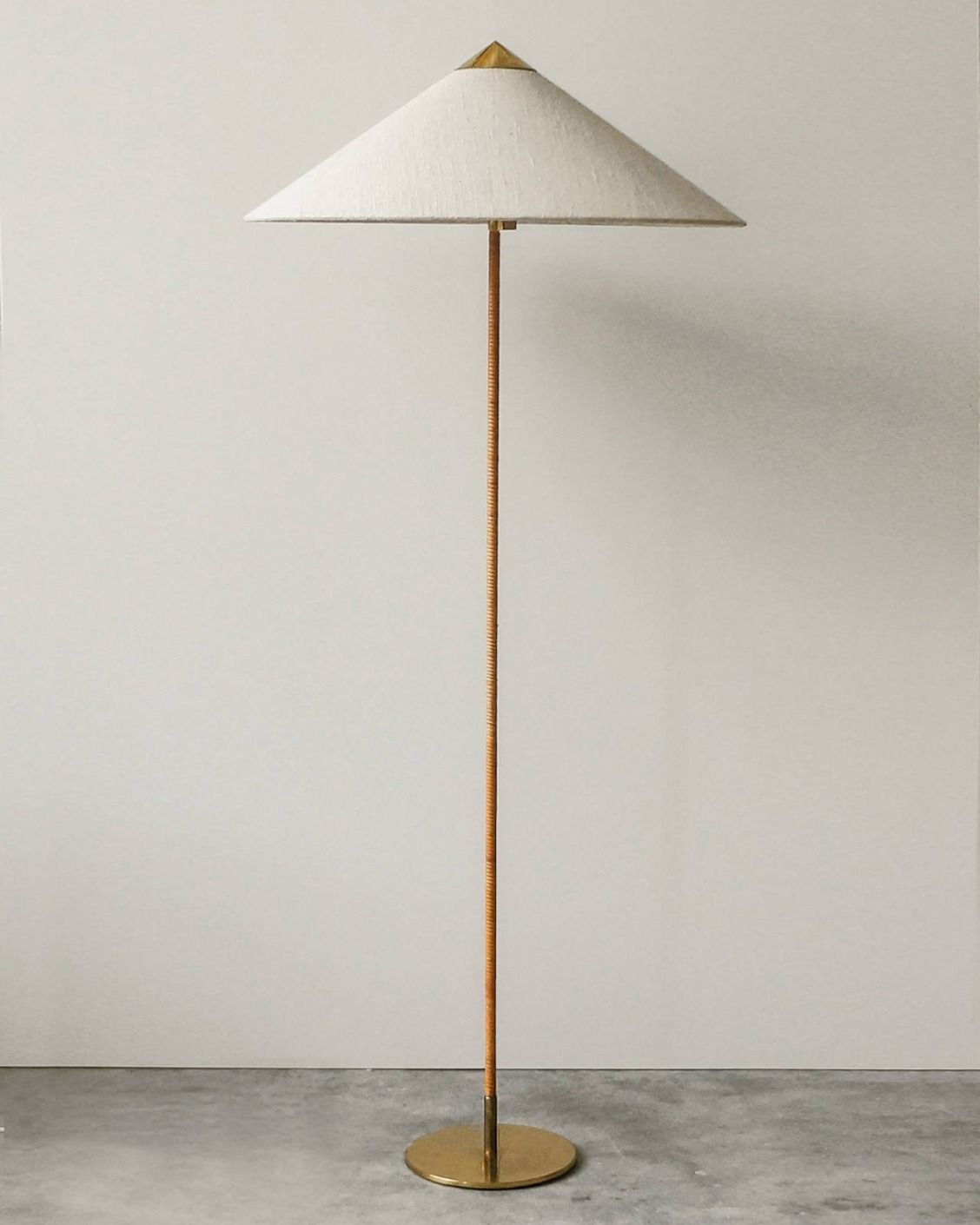 1940s Paavo Tynell Lamp W Original Cane Wrapping Floor Lamp Contemporary Floor Lamps Modern Lamp