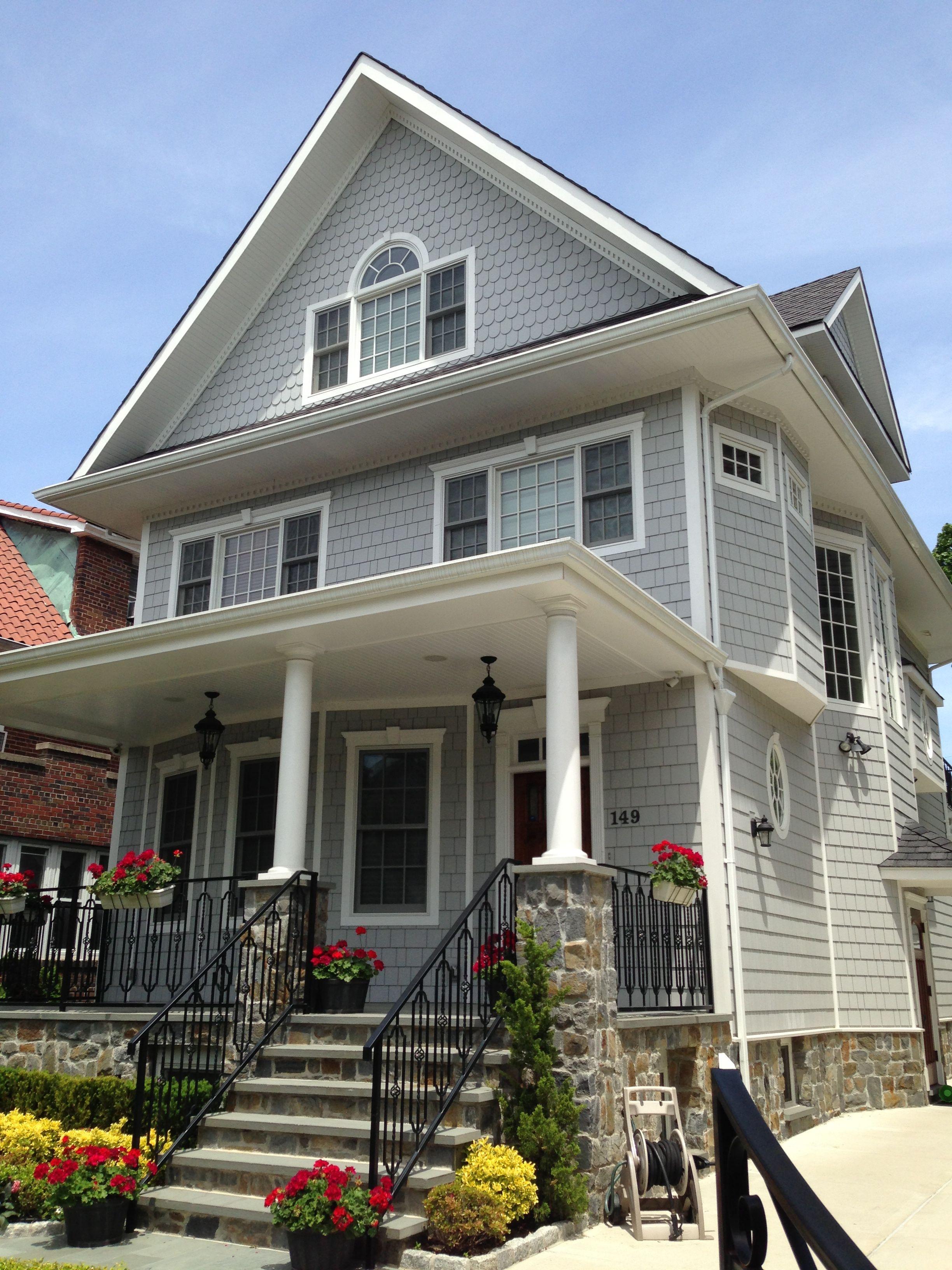 Best Faux Cedar Shake Bay Ridge Bklyn House Exterior 640 x 480