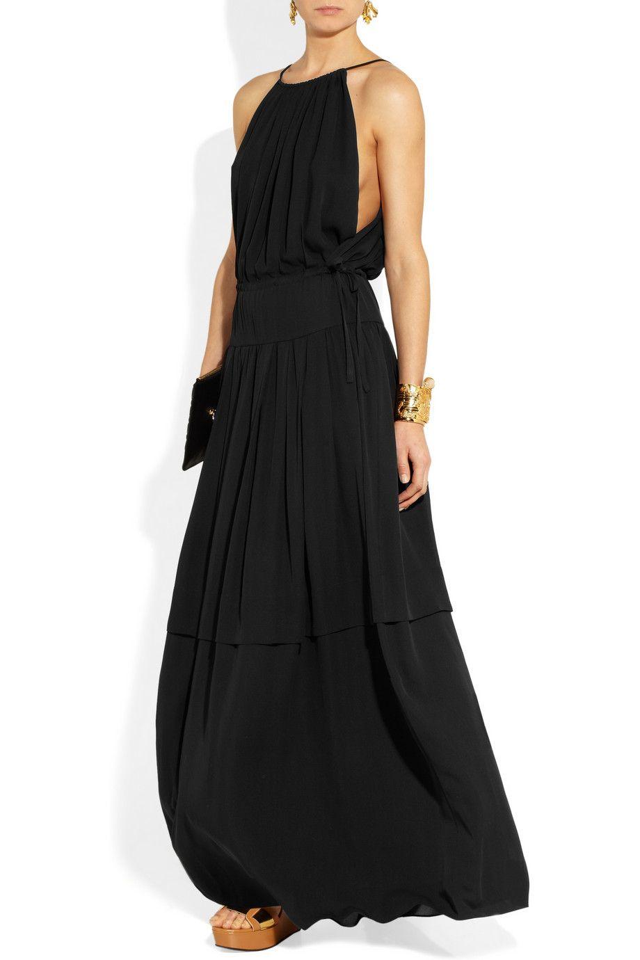 Chloé|Silk-georgette maxi dress |NET-A-PORTER.COM