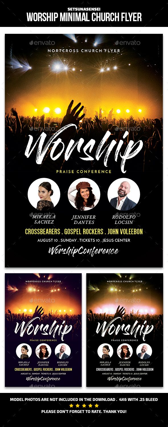 Worship Minimal Church Flyer Template PSD Download Here Graphicriver