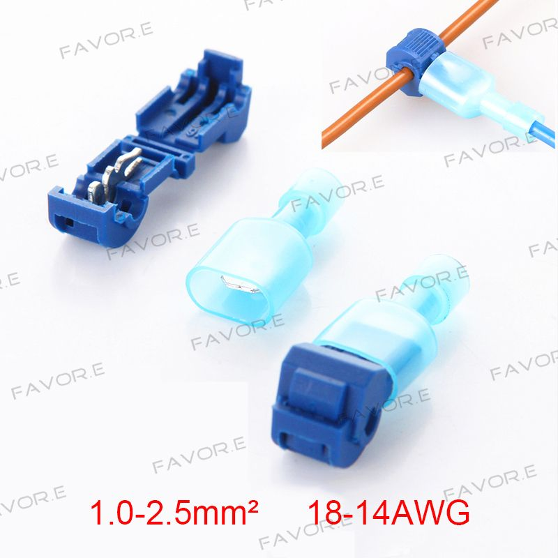 10PCS(5sets) Blue Wire Cable Connectors Terminals Crimp Scotch Lock ...