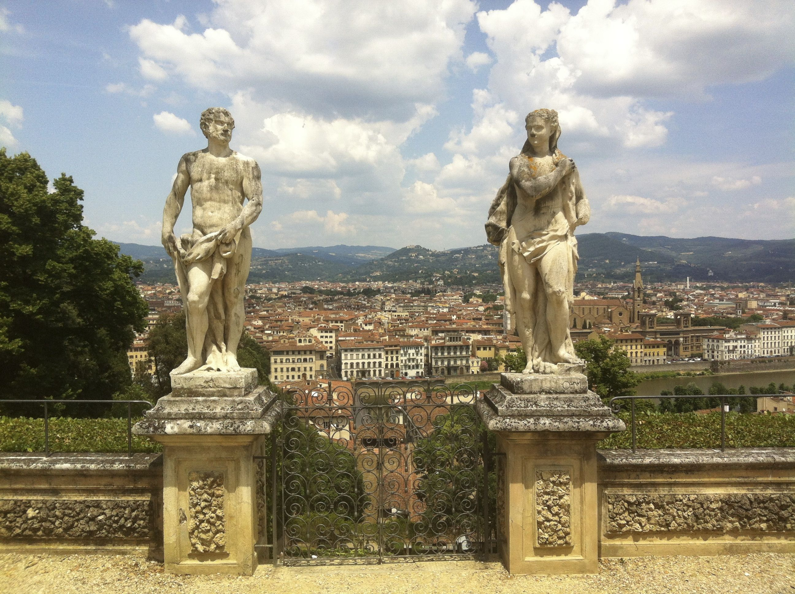 Statues From Boboli Gardens, Florence, Tuscany, Italy. Bekvedere ...