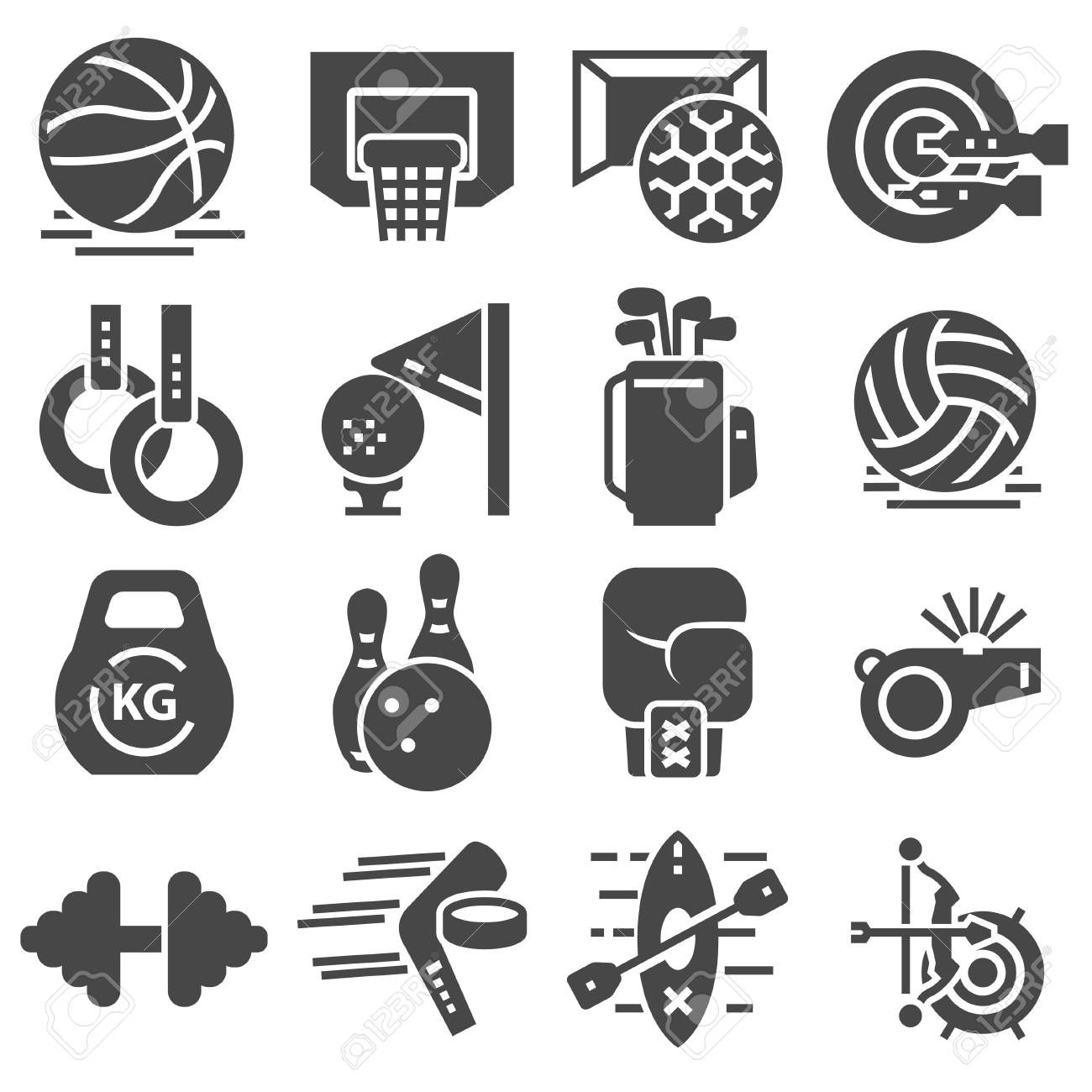 Fitness and Sport vector icons for web and mobile ,