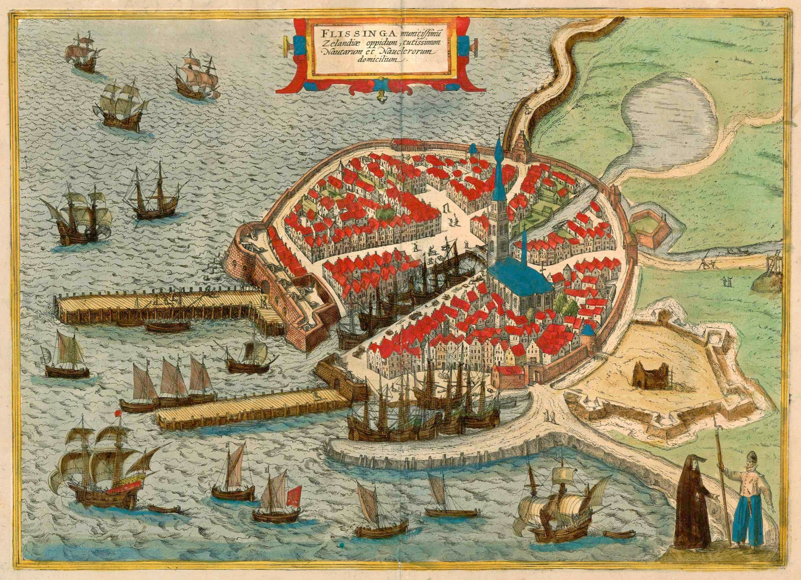 1593 map of the city of Vlissingen
