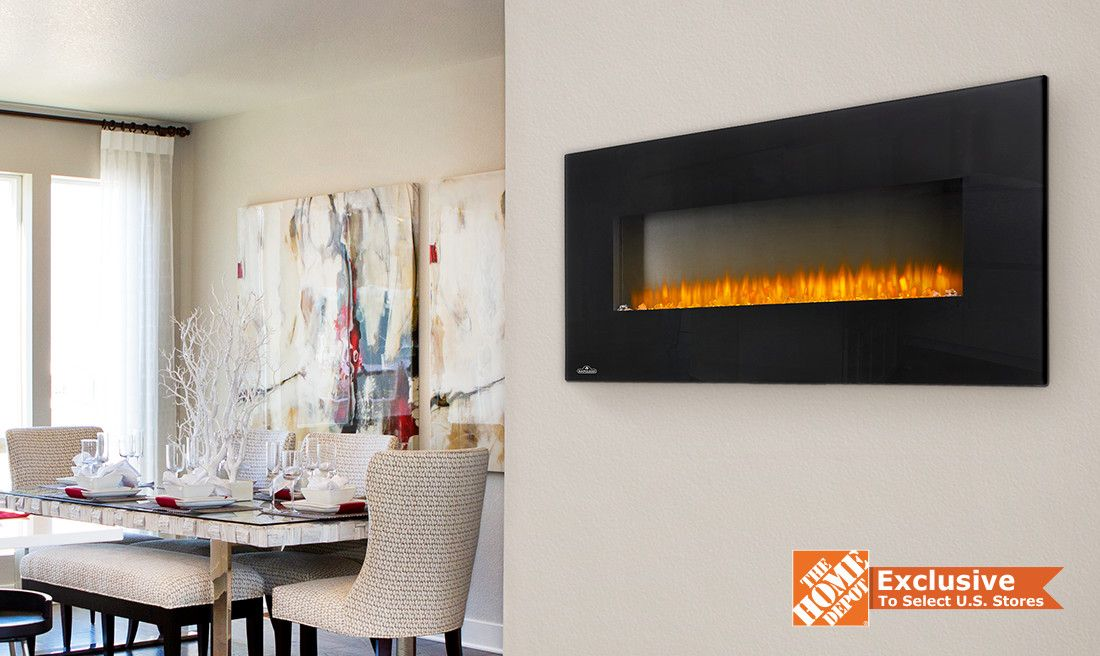 Tarence 50 Electric Fireplace Wall Hanging Electric Fireplace