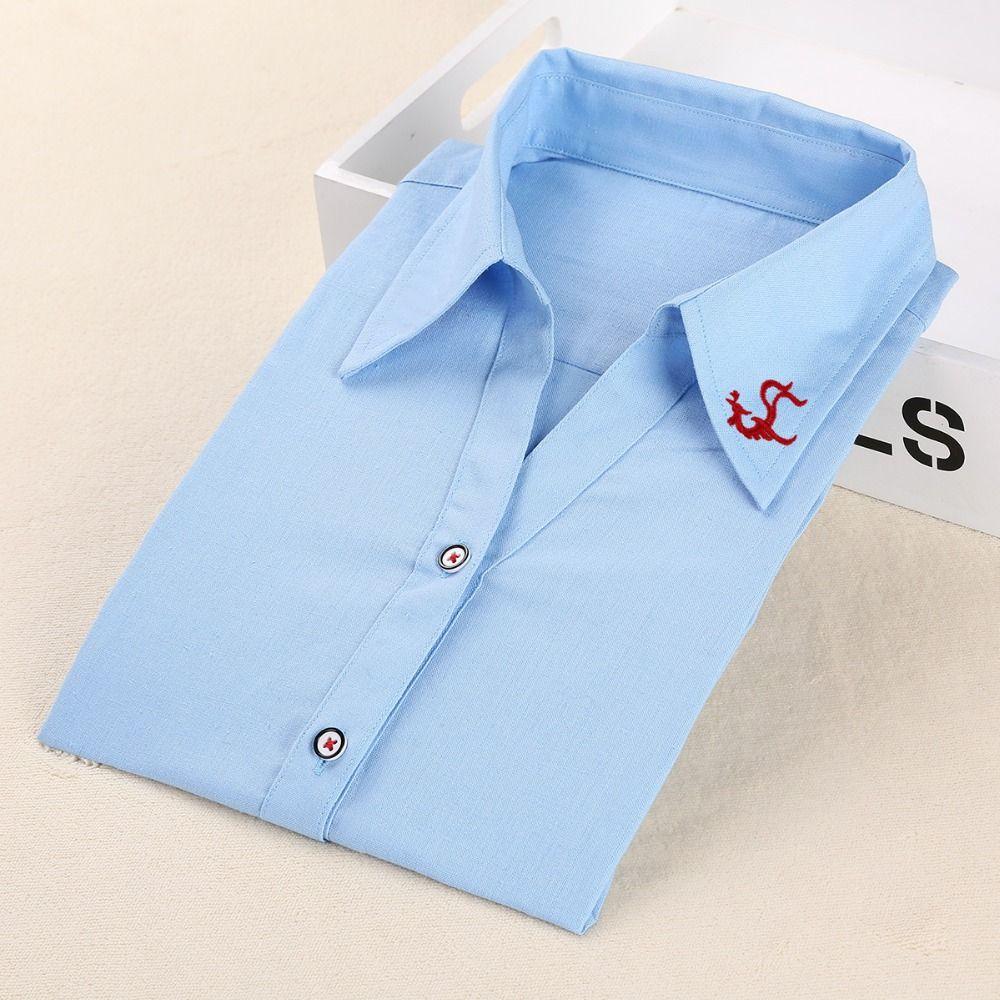Plus size women blouses phenix long sleeve shirt women solid cotton