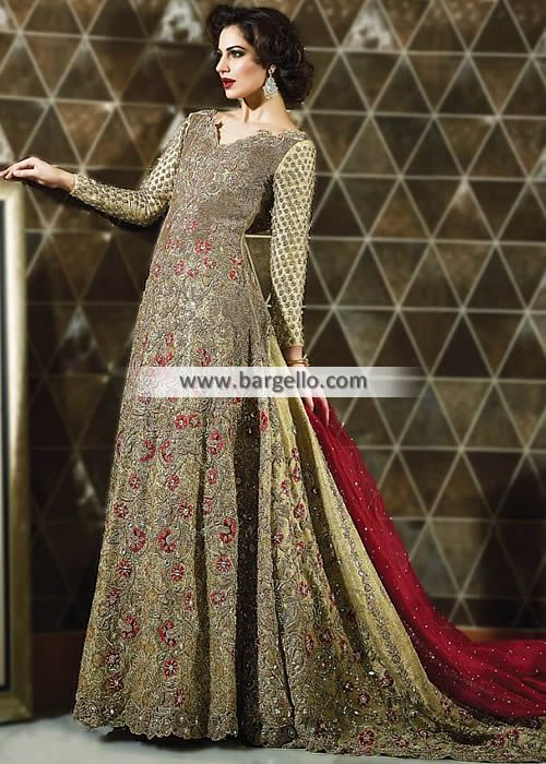 99bb0af49b39 Pakistani Bridal Anarkali Suits Bridal Dresses with Chapel Train D6302 Bridal  Wear - #Pakistani #Bridal #Lehenga #Banarasi #Jamawar Bridal #Lehnga Rapids  ...