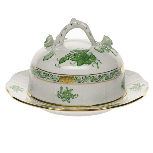 Herend Chinese Bouquet Green Covered Butter Dish - http://www.specialdaysgift.com/herend-chinese-bouquet-green-covered-butter-dish/