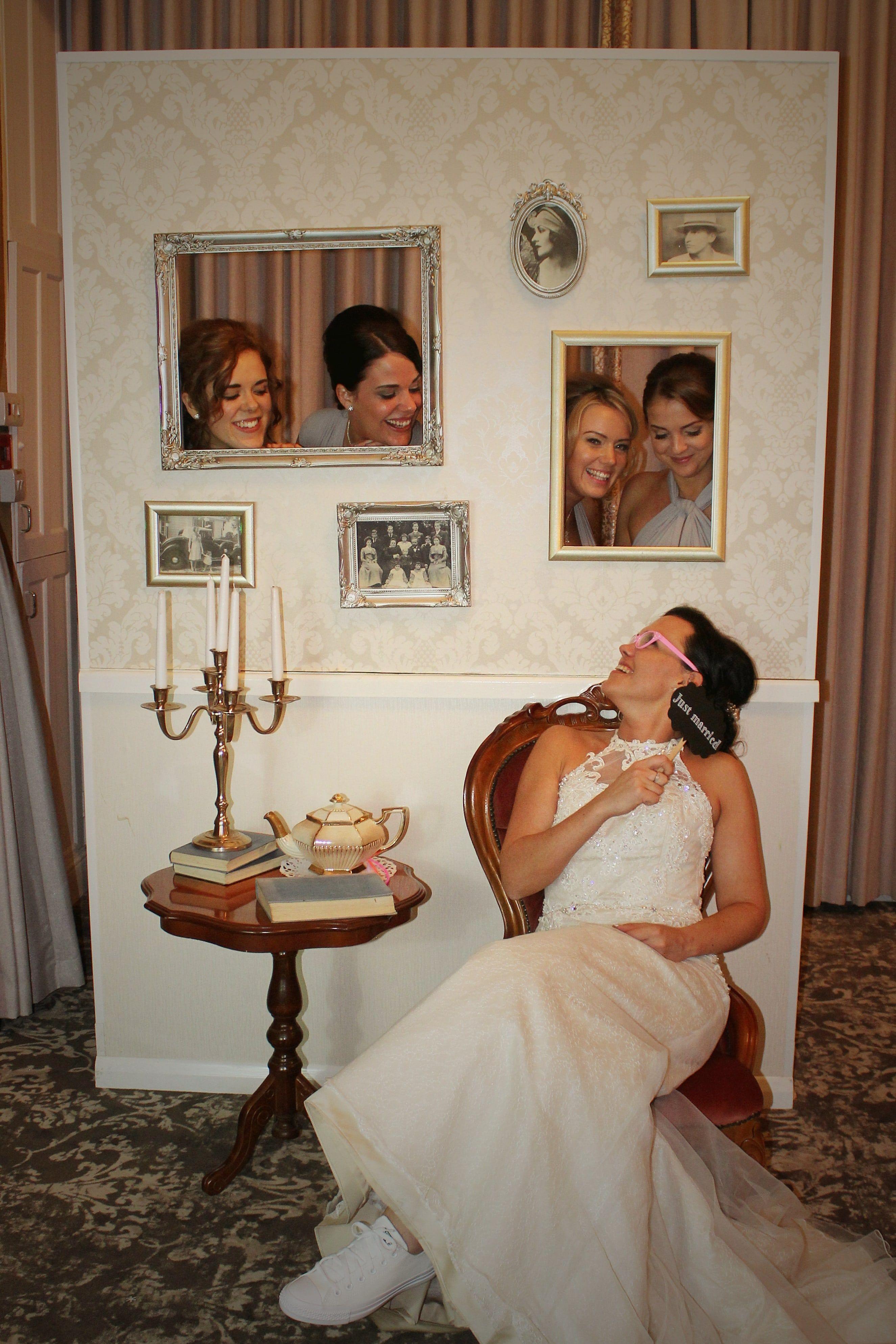 vintage photo booth wall the rustic wedding company wedding ideas