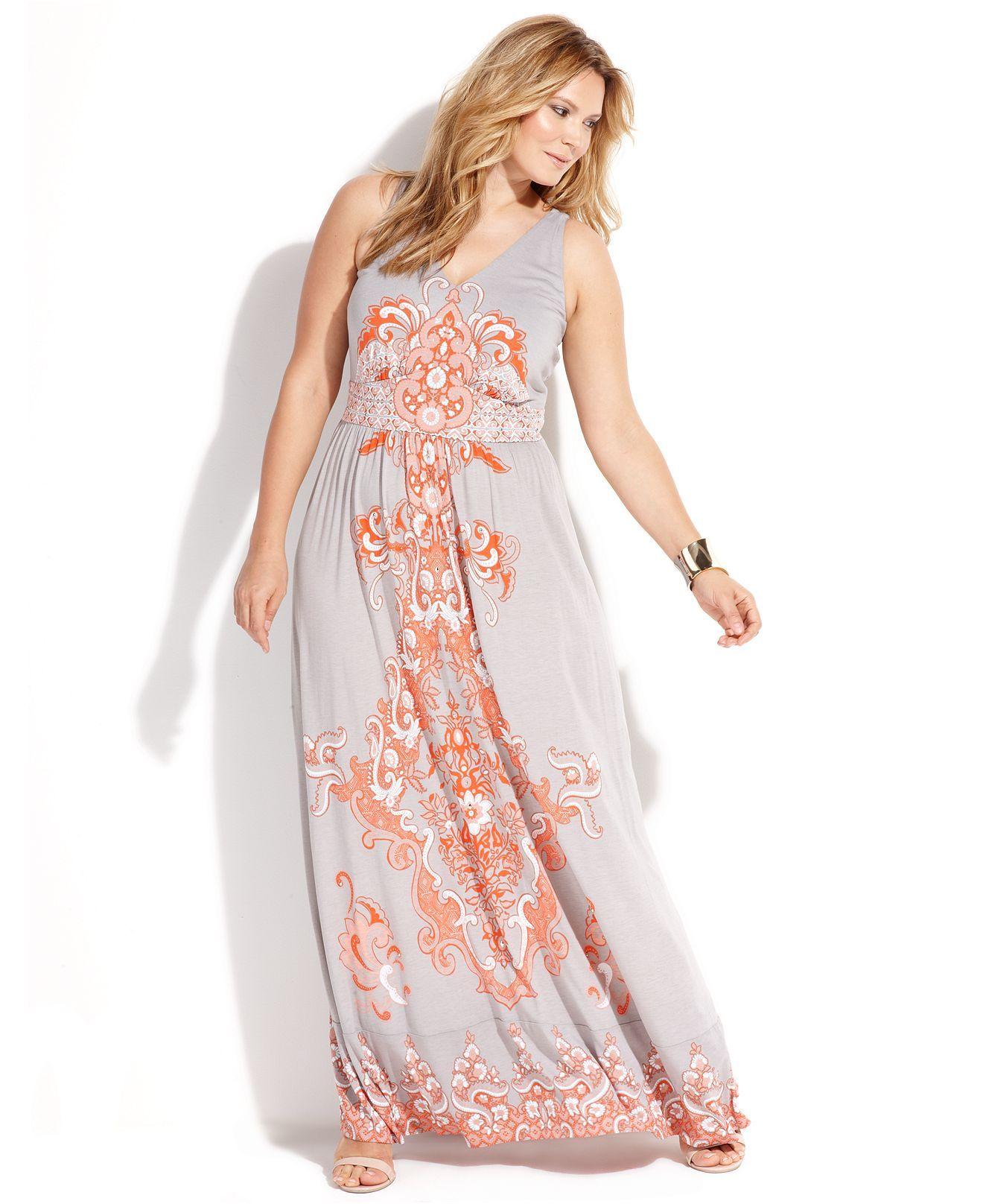 Plus Size Sleeveless Maxi Casual Dresses