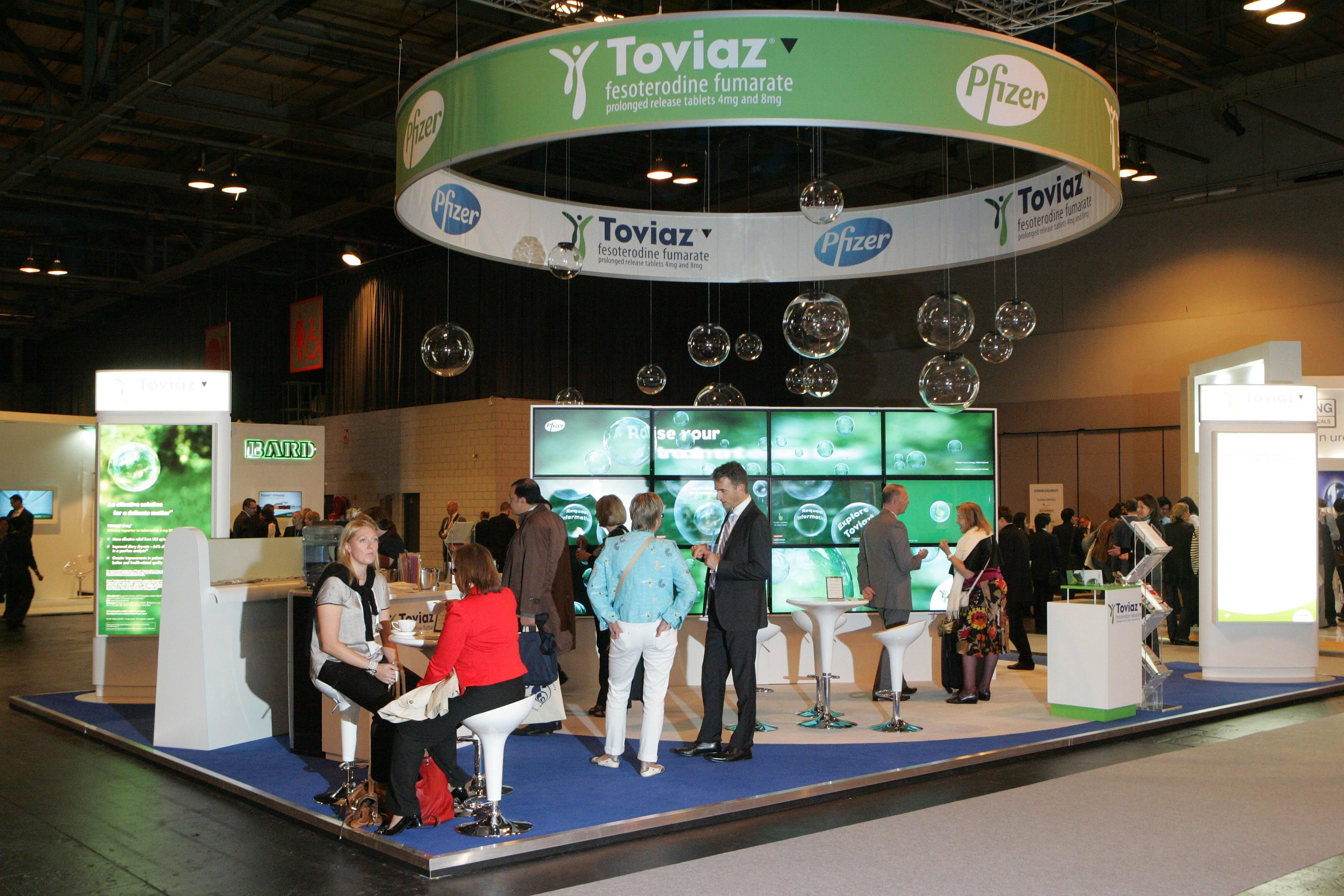 Exhibition Stand Raised Floor : Pfizer tovias required this custom build exhibition stand