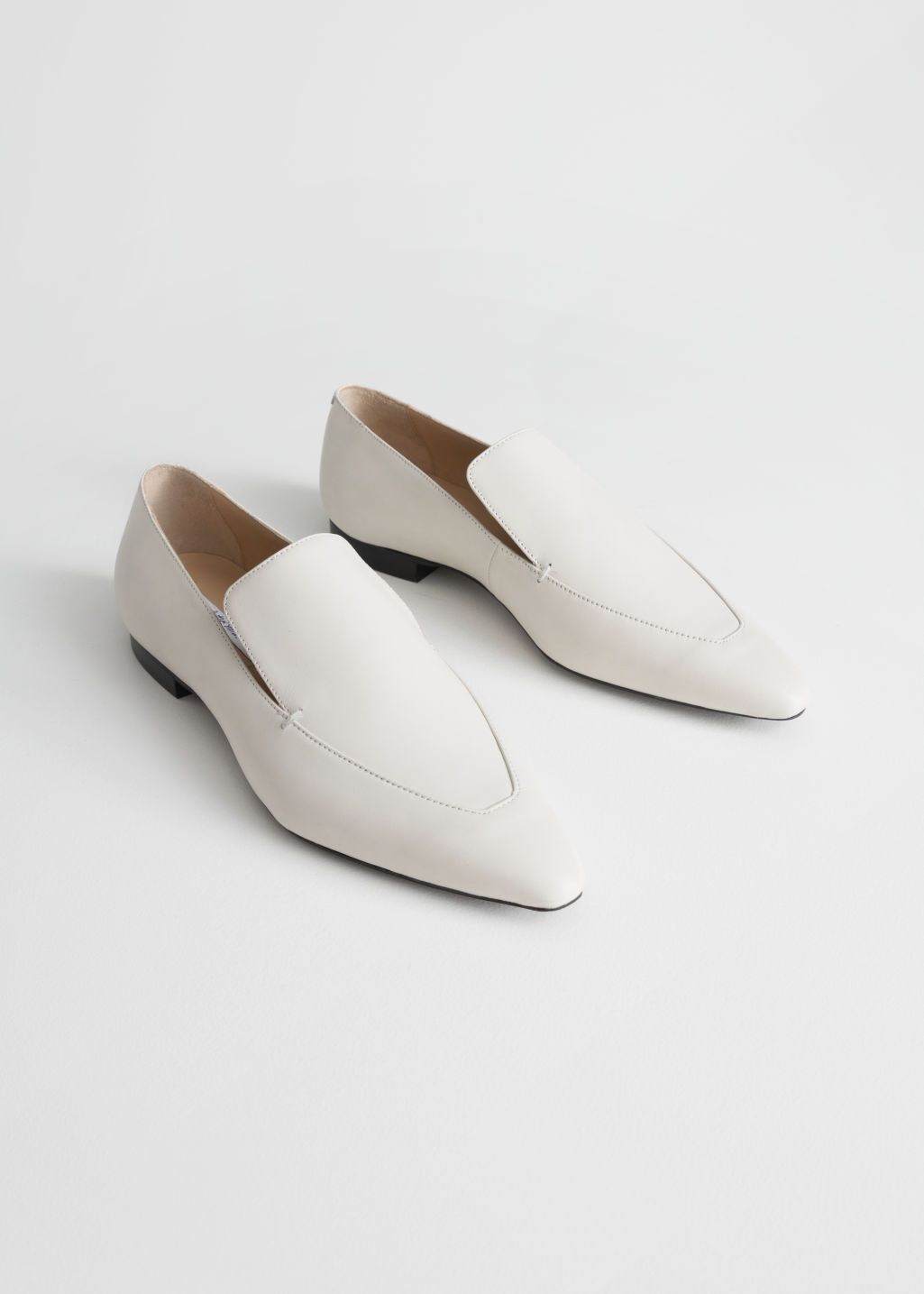 Pointed Leather Loafers | Loafers