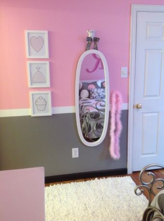 . Pretty in Pink  Pink and Gray Girls Bedroom  Every girl needs a
