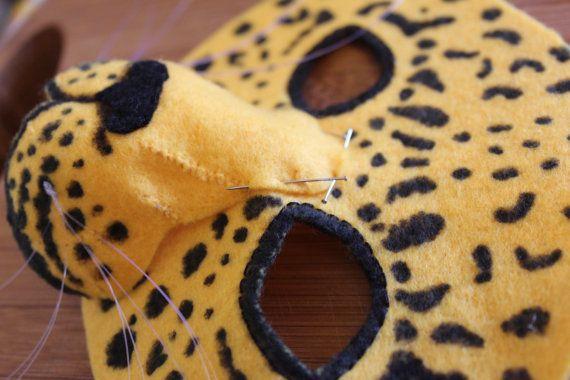 Leopard Mask PATTERN. Kids Leopard Costume Sewing Pattern