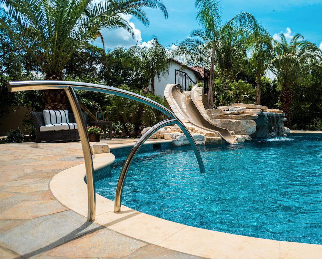 Custom Handrail For Pools Pool Houses Outdoor Living Patios Swimming Pool Builder