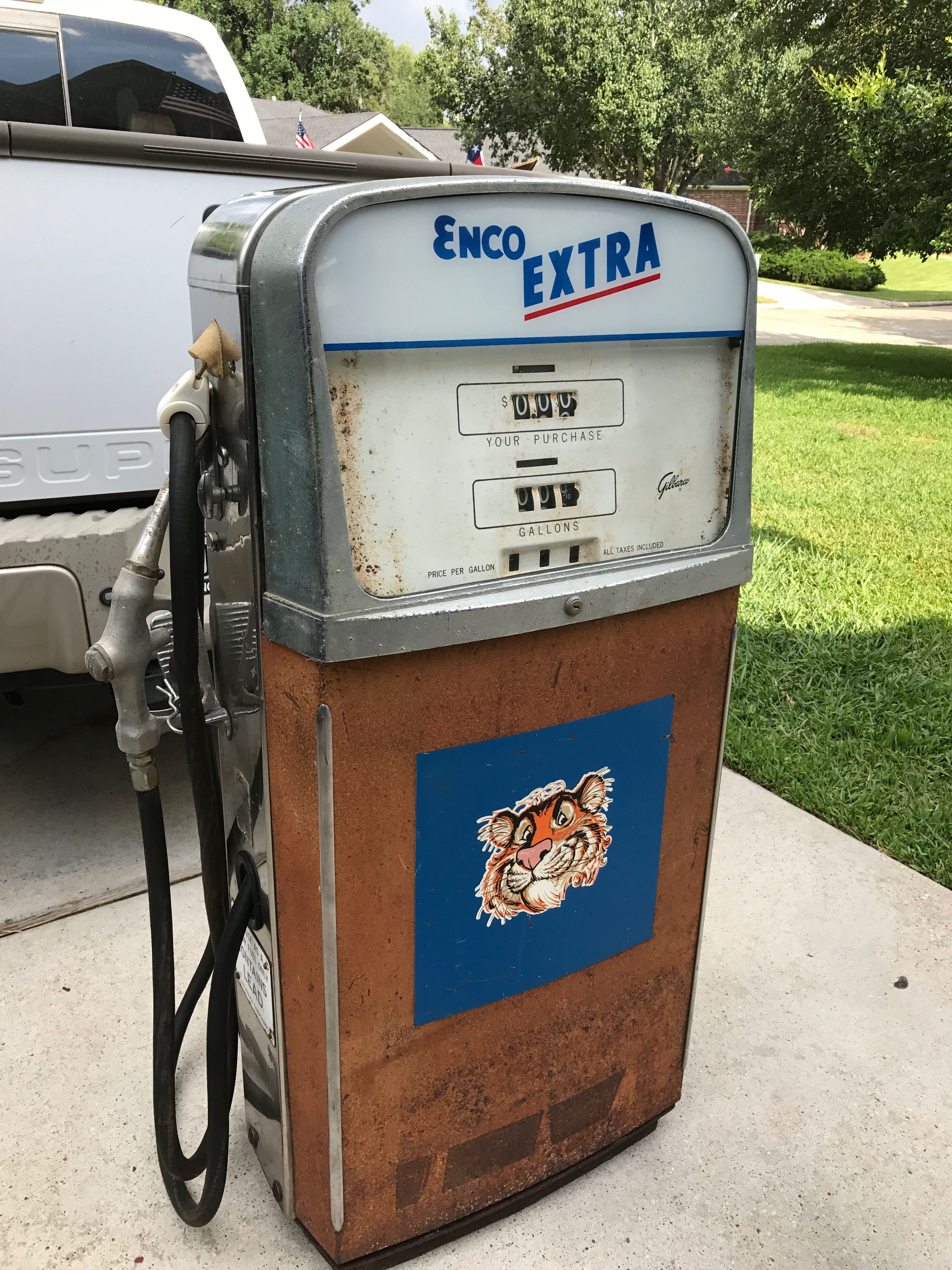 1961 Gilbarco gas pump in Mike's Collection  Found it