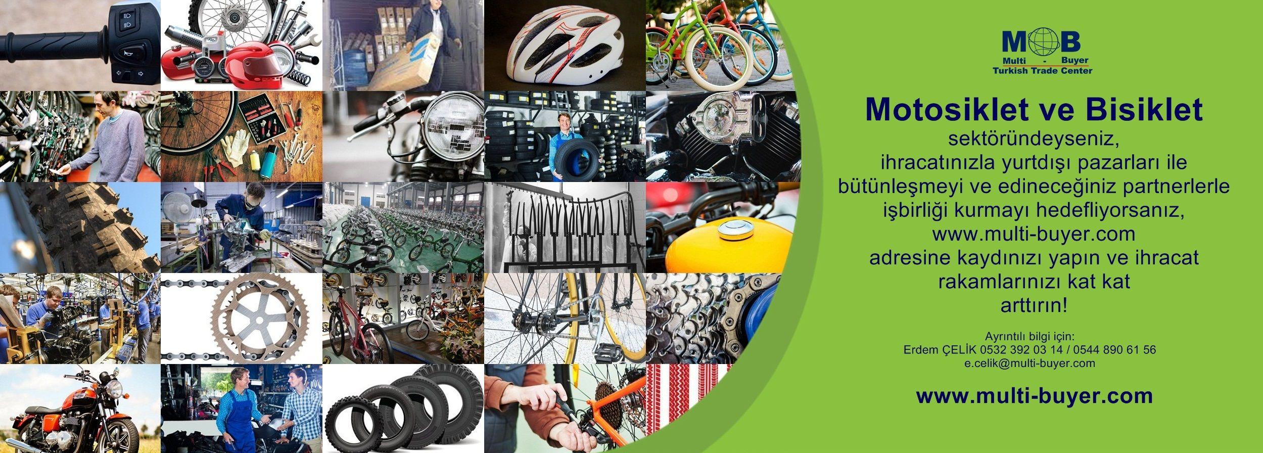 Motosiklet ve Bisiklet sektöründeyseniz, ihracatınızla yurtdışı pazarları ile bütünleşmeyi ve edineceğiniz partnerlerle işbirliği kurmayı hedefliyorsanız, www.multi-buyer.com adresine kaydınızı yapın ve ihracat rakamlarınızı kat kat arttırın! A - Z 'ye tüm sektörlerin YERİNDE TİCARET yapmaları için dış ticaret alanın da getirdiğimiz yenilikleri ve hangi imkanları değerlendirebileceğinizi videomuz da izleyebilirsiniz. https://lnkd.in/dj-7SVG Bilgi için: Erdem ÇELİK   0532 392 03 14
