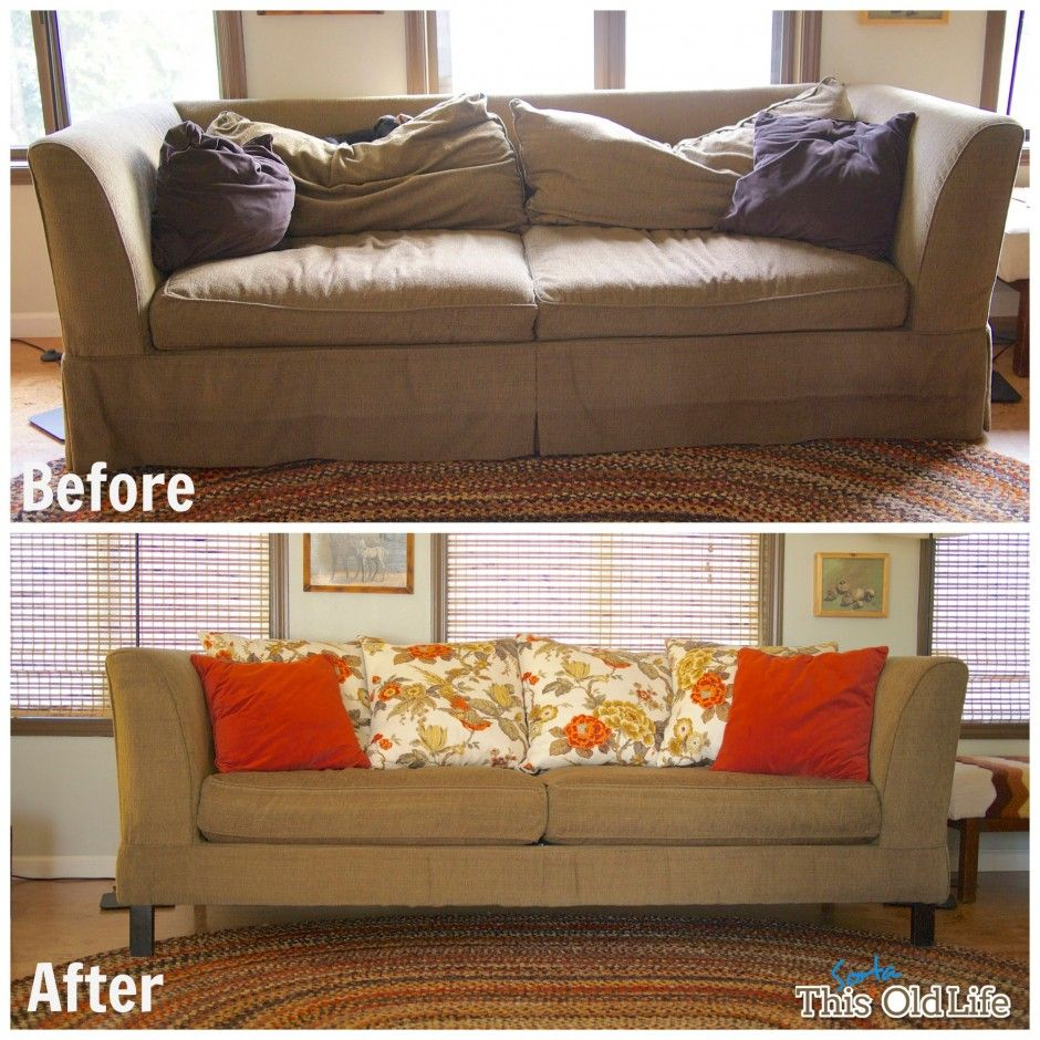 Easy Diy Save For A Tired Old Sofa Sofa Makeover Old Sofa