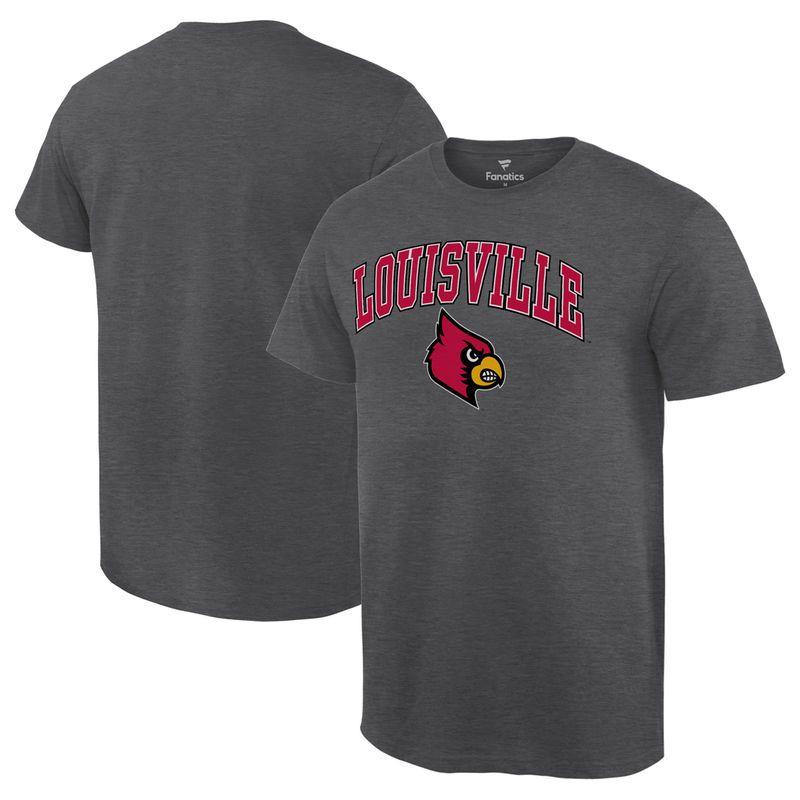 d1c2e81a2020 Louisville Cardinals Fanatics Branded Campus T-Shirt - Charcoal ...