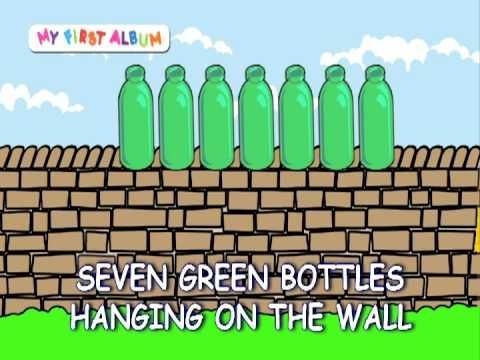 Ten Green Bottles Hanging On The Wall Green Bottle English Fun Counting Rhymes