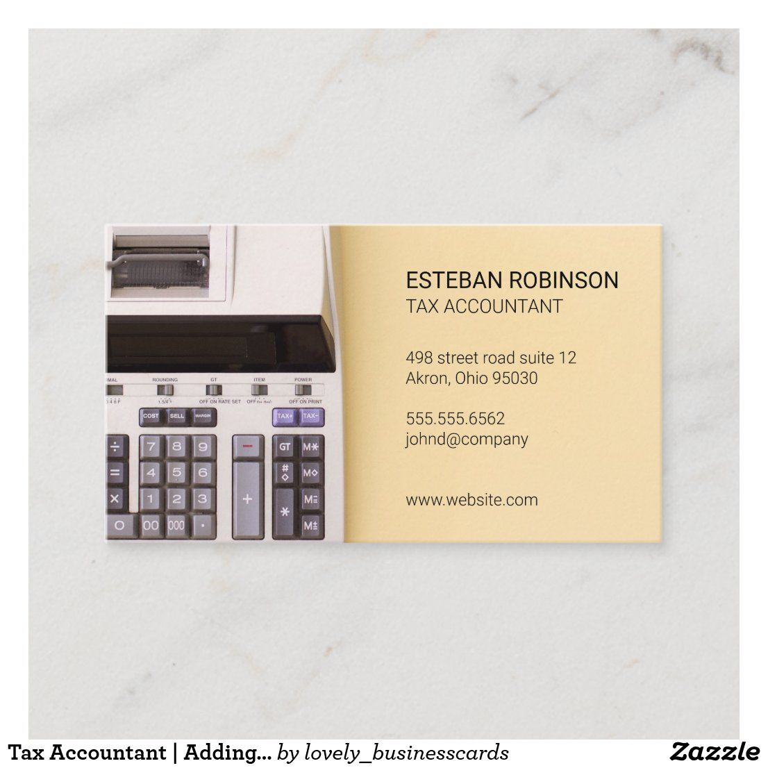 Tax Accountant Adding Machine Business Card Zazzle Com Tax Accountant Bookkeeping Business Accounting
