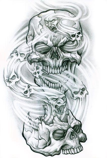 403 Forbidden Smoke Tattoo Tattoos Skulls Drawing