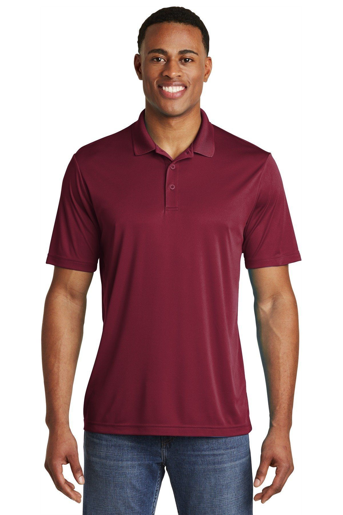 SportTek PosiCharge Competitor Polo. ST550 Maroon / 4XL