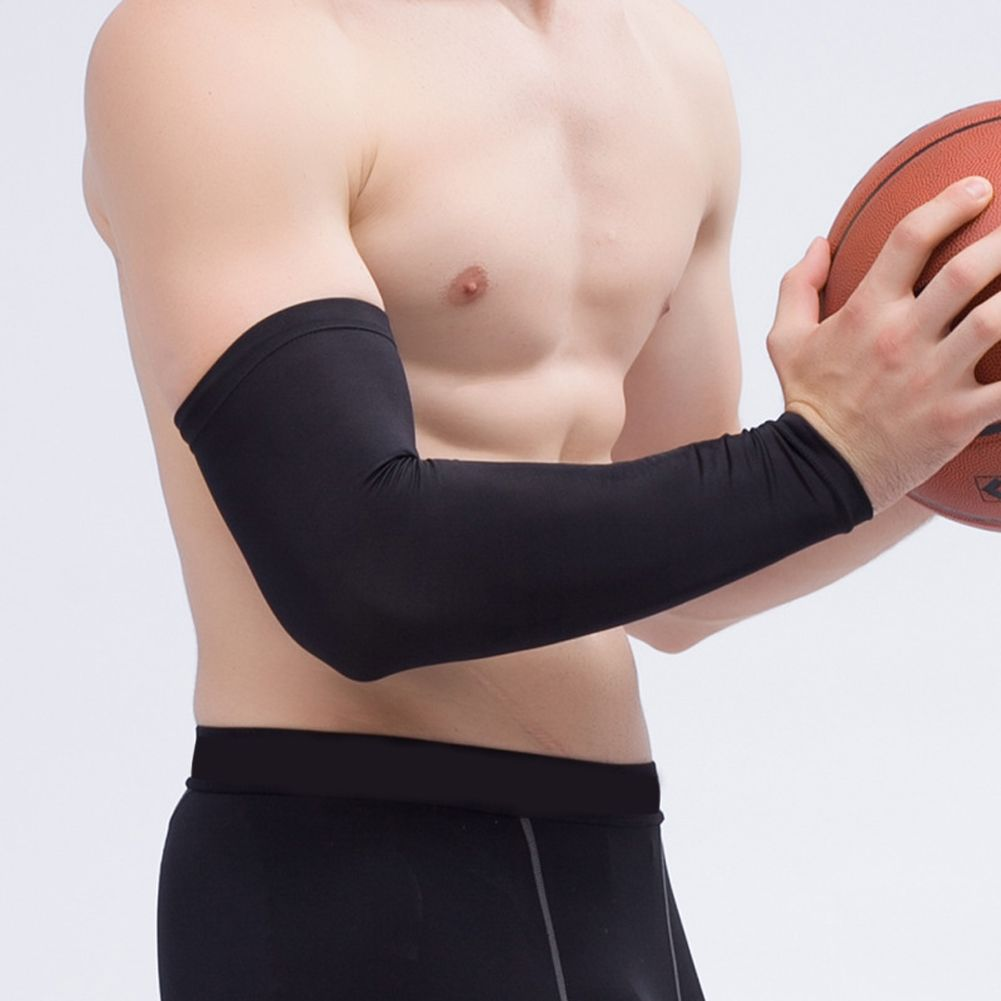 Basketball Clothing, Shoes & Accessories Men Sports Cover Hand Arm Elbow Protector Gear Basketball Football Long Sleeves