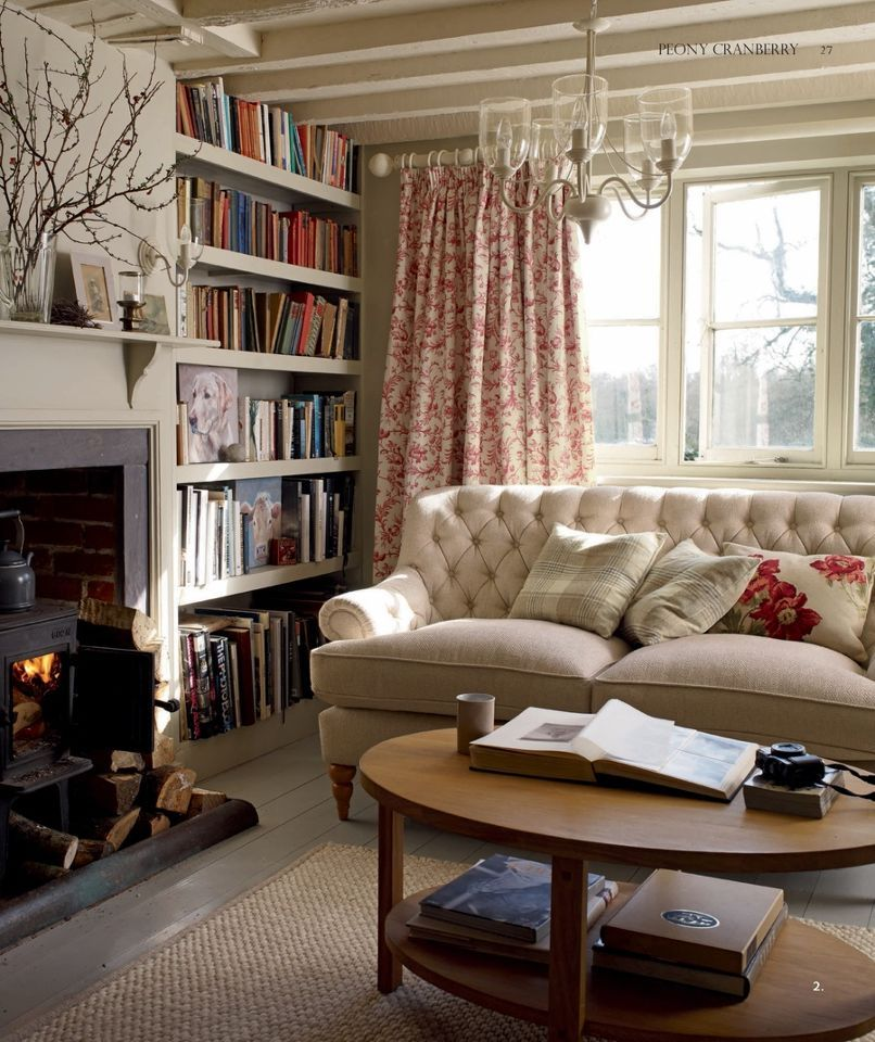 Laura Ashley | living room | Pinterest | Laura ashley, Beams and Red ...
