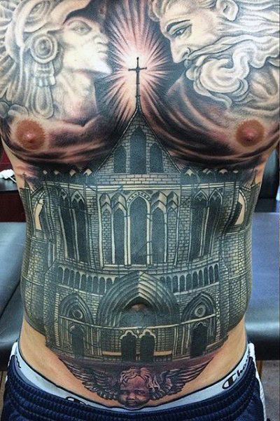 937a2e2f822bb Top 100 Best Stomach Tattoos For Men - Masculine Ideas | cool ...
