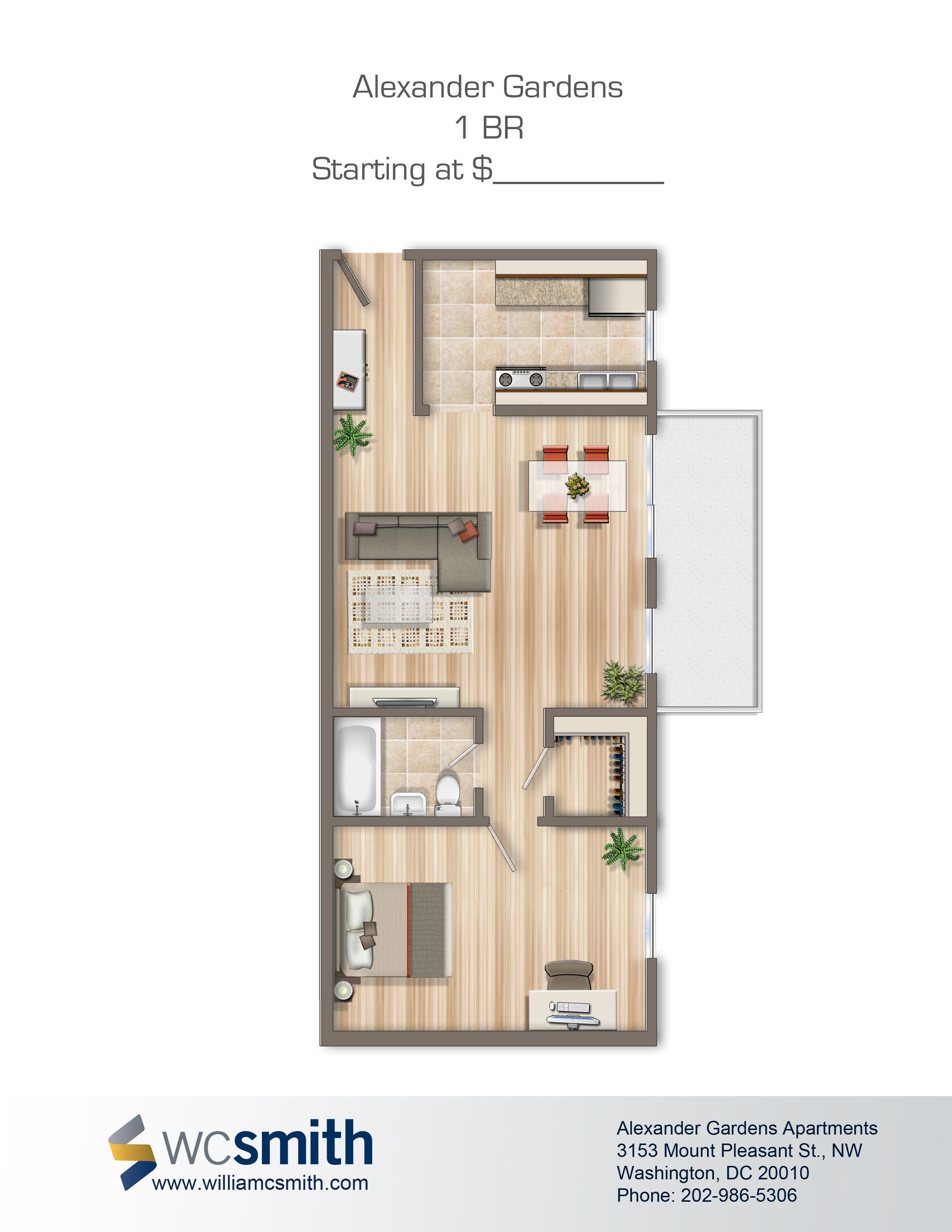 Alexander Gardens Apartments In Washington DC in 2020