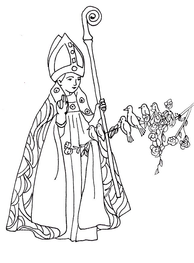 St Valentine Catholic Coloring Page Feast day is February 14th