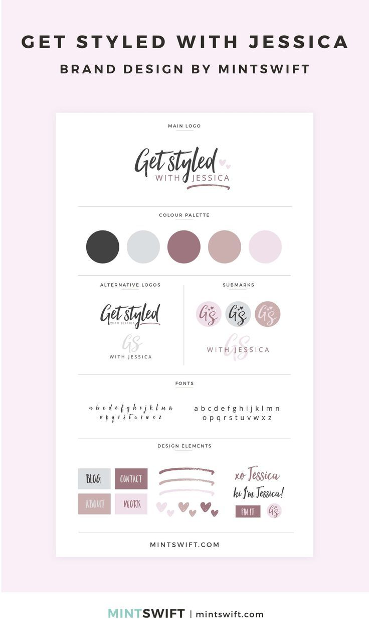 Brand Design for Get Styled with Jessica is part of Branding design packaging, Branding design, Portfolio website design, Branding design logo, Branding website design, Logo design tips - Go behind the scenes of the brand design for Get Styled with Jessica  See the process of creating a brand identity & collaterals in the portfolio blog post