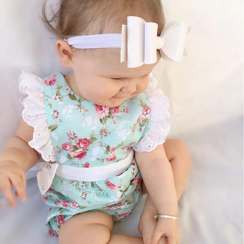 How adorable is this blue vintage floral baby romper? A little bit of floral is so feminine, she will look so pretty and keep cool, whether she is crawling, falling or walking. This beauiful baby romper with it's pretty features will be perfect for every day wear!