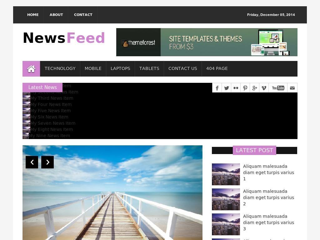 Адаптивный шаблон новостного блога созданный на плагине Bootstrap 3 ...