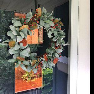 Photo of Lemon Hoop Wreath, Summer Hoop Wreath, Summer Lemon Wreath, Lemon Wreath With White Flowers, Yellow Summer Wreath, Front Door Wreath