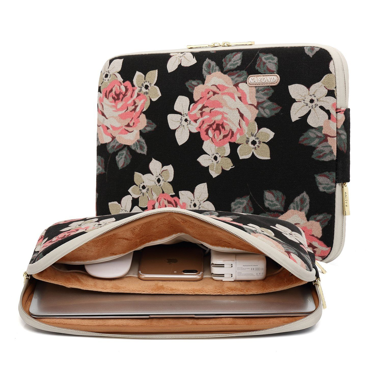 Women Floral Laptop Sleeve Bags Accessories For Macbook Pro Air Notebook 13 Inch