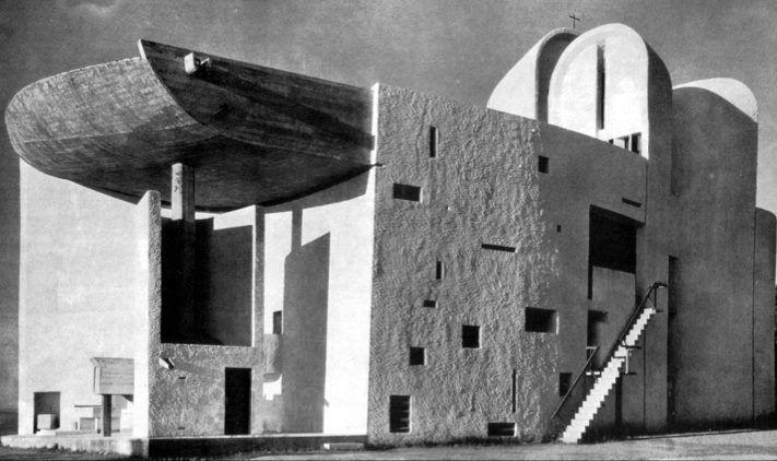 Le Corbusier...Notre Dame Du Haut... Ronchamp, France...1951-54