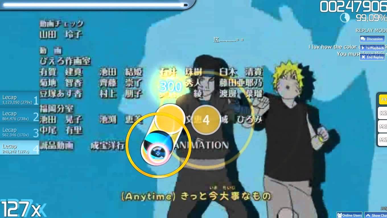 Osu-Anime Naruto Shippuden Ending DOMINO - U Can Do It